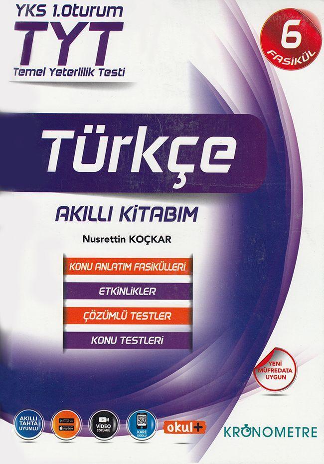 Kronometre TYT Türkçe Akıllı Kitabım Konu Anlatım Fasikülleri 6 Kitap