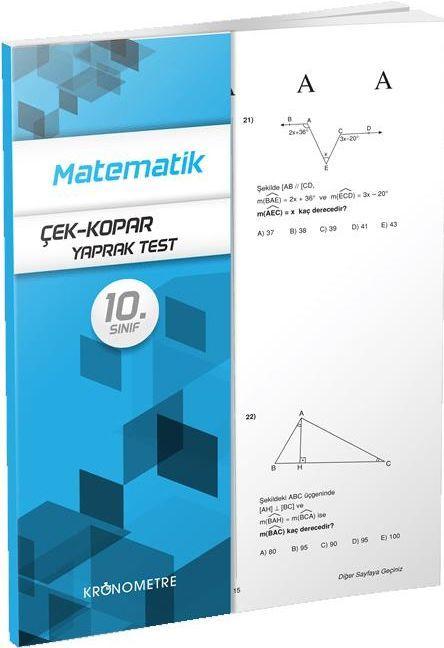Kronometre Yayınları 10. Sınıf Matematik Yaprak Test