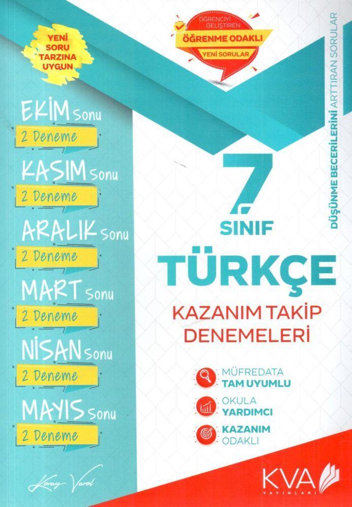 KVA Yayınları 7. Sınıf Türkçe Kazanım Takip Denemeleri