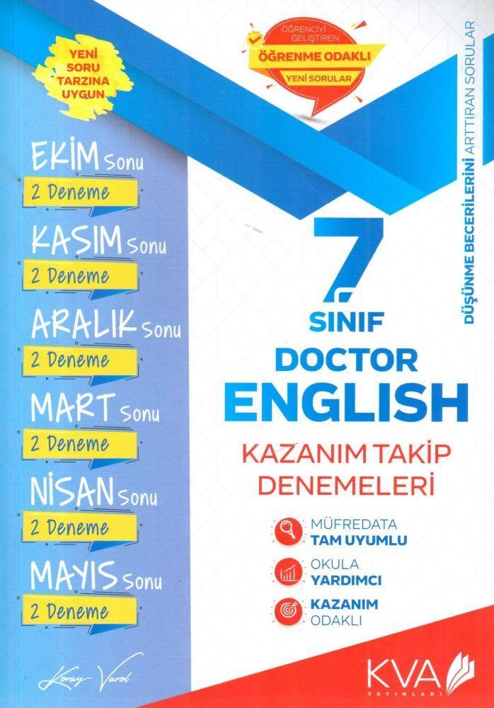 KVA Yayınları 7. Sınıf Doctor English Kazanım Takip Denemeleri