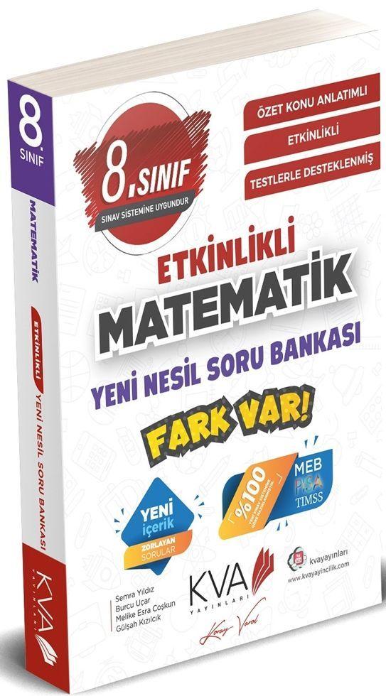 KVA Yayınları 8. Sınıf Matematik Yeni Nesil Etkinlikli Fark Var Soru Bankası