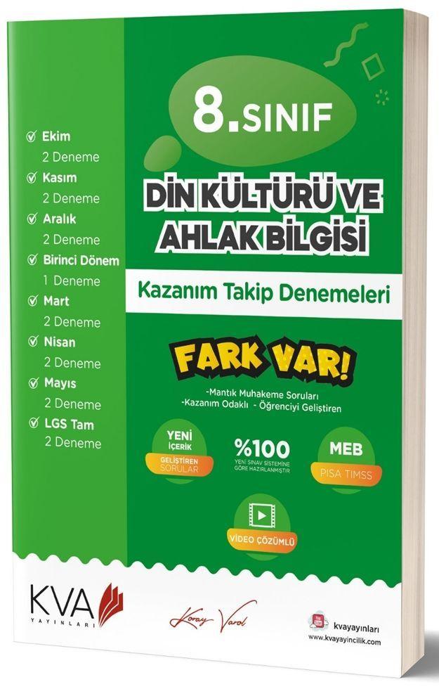 KVA Yayınları 8. Sınıf Din Kültürü ve Ahlak Bilgisi Fark Var Kazanım Takip Denemeleri