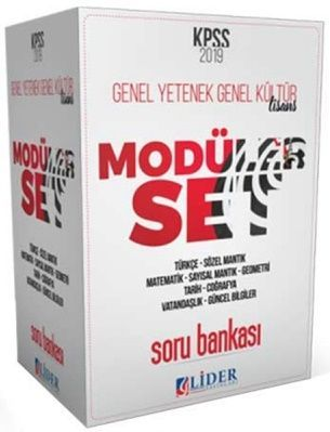 Lider Yayınları 2019 KPSS Genel Yetenek Genel Kültür 5 Kitap Soru Bankası Modüler Set