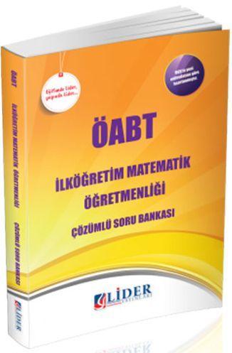 Lider Yayınları ÖABT İlköğretim Matematik Öğretmenliği Soru Bankası