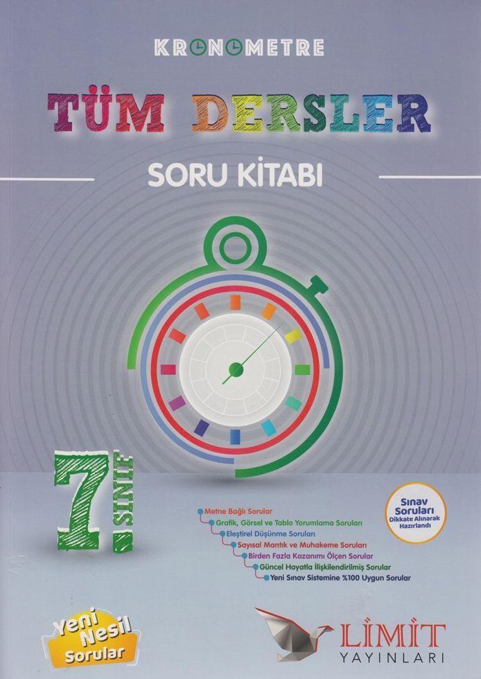Limit Yayınları 7. Sınıf Tüm Dersler Kronometre Soru Kitabı