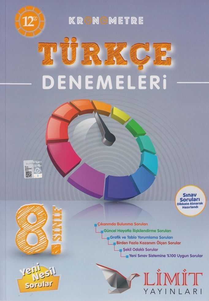 Limit Yayınları 8. Sınıf Türkçe Kronometre 12 li Denemeleri