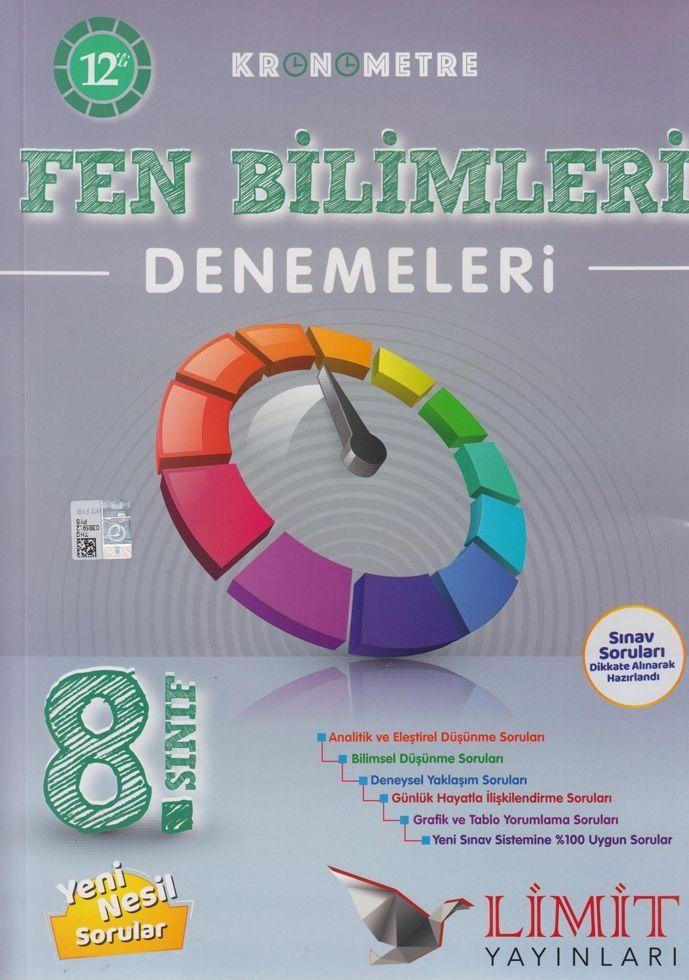 Limit Yayınları 8. Sınıf Fen Bilimleri Kronometre 12 li Denemeleri