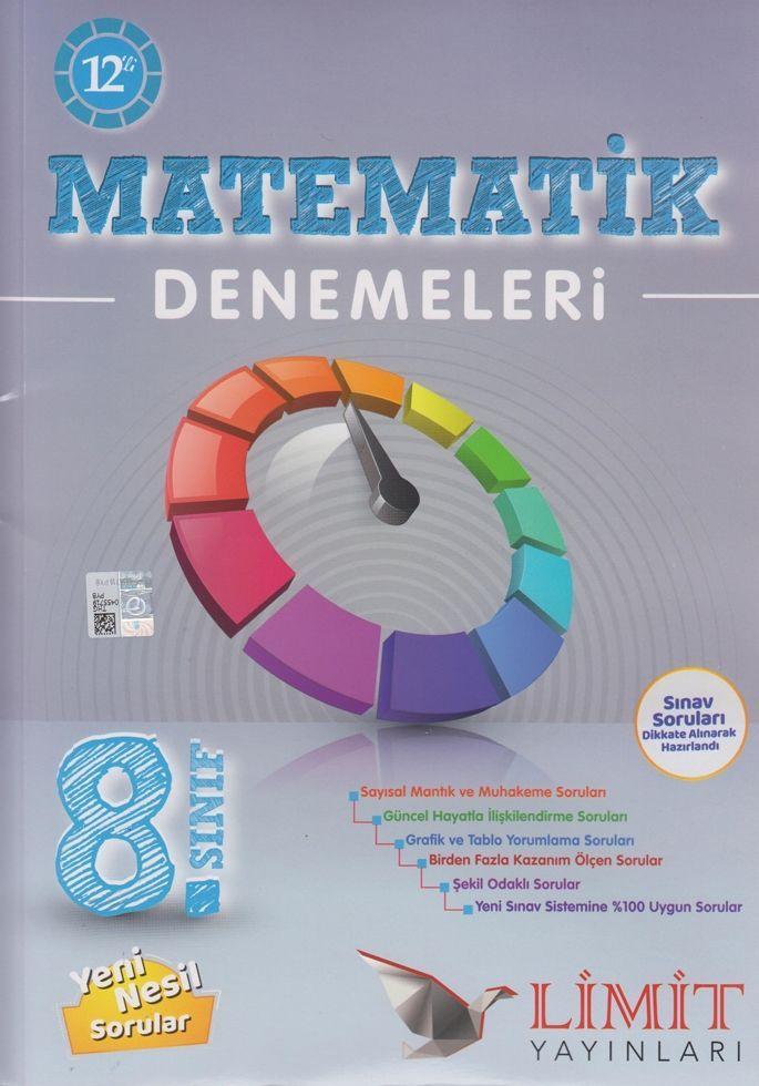 Limit Yayınları 8. Sınıf Matematik 12 li Denemeleri