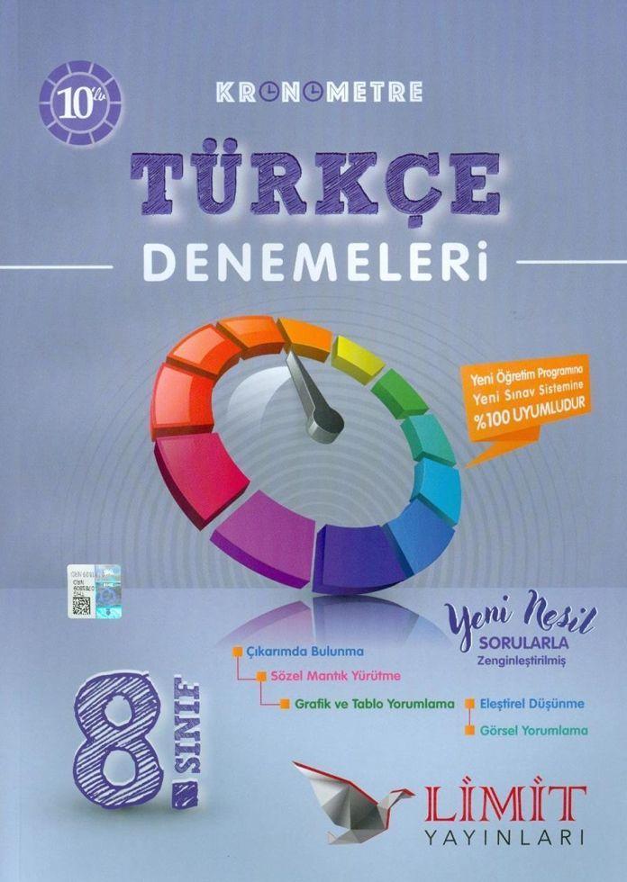 Limit Yayınları 8. Sınıf Türkçe Kronometre Denemeleri