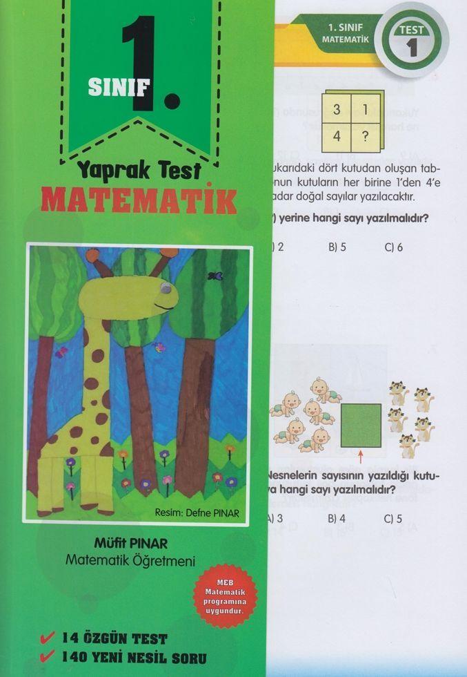 Müfit Pınar 1. Sınıf Matematik Yaprak Test