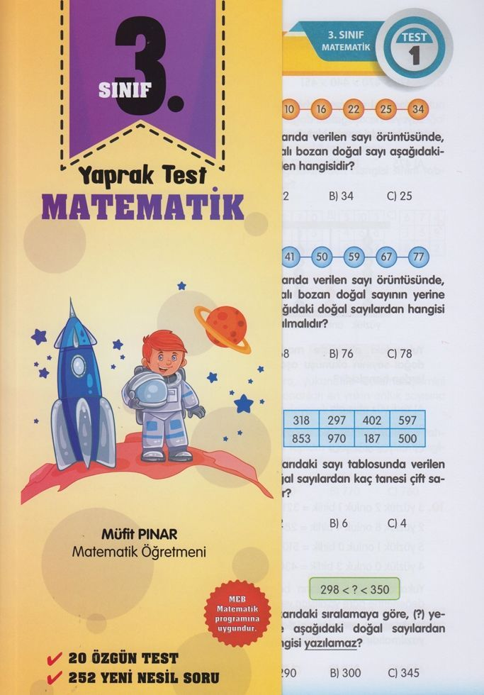 Müfit Pınar 3. Sınıf Matematik Yaprak Test