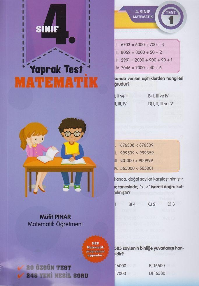 Müfit Pınar 4. Sınıf Matematik Yaprak Test