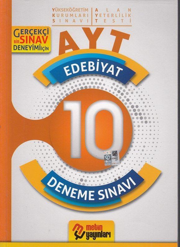 Metin Yayınları AYT Edebiyat 10 Deneme Sınavı