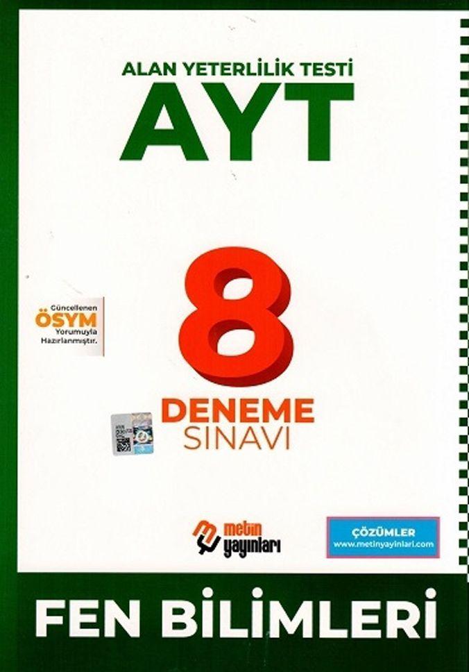 Metin Yayınları AYT Fen Bilimleri 8 Deneme Sınavı