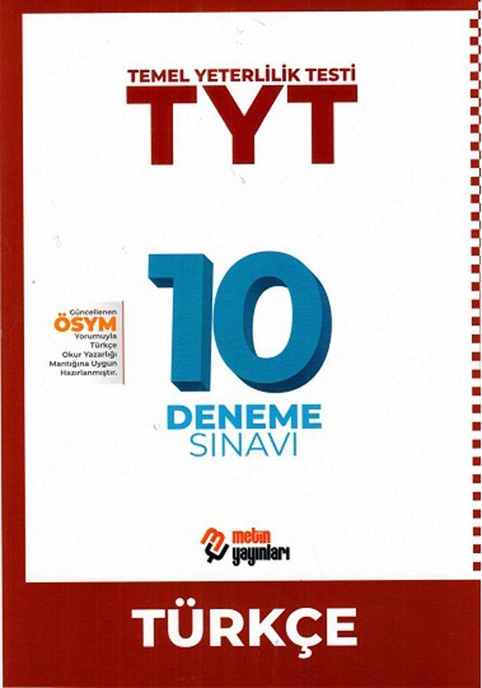 Metin Yayınları TYT Türkçe 10 Deneme Sınavı