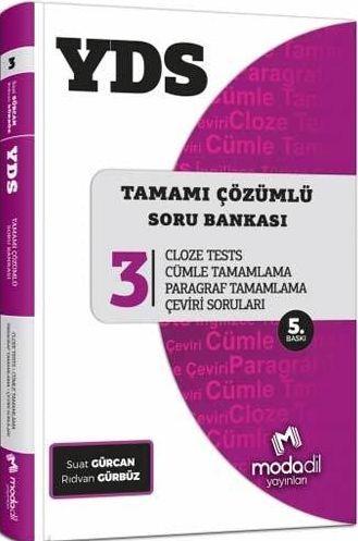 Modadil Yayınları YDS Tamamı Çözümlü Modüler Soru Bankası Serisi 3