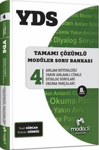 Modadil Yayınları YDS Tamamı Çözümlü Modüler Soru Bankası Serisi 4