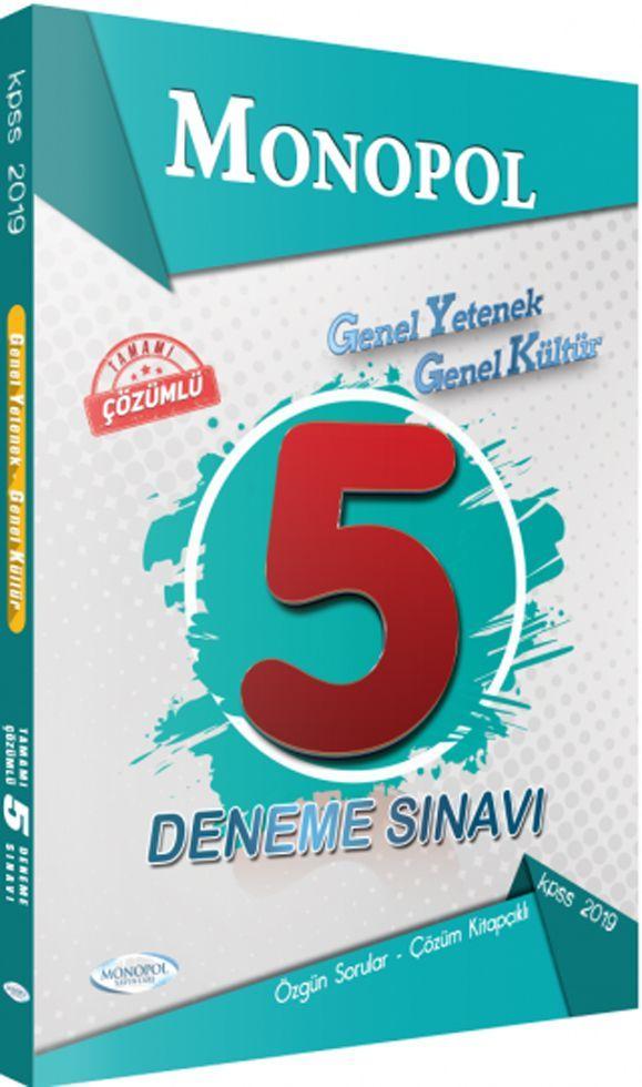 Monopol Yayınları Genel Yetenek Genel Kültür 5 Deneme Sınavı