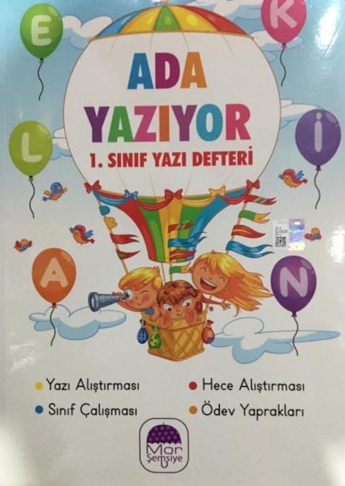 Mor Şemsiye Yayınları 1. Sınıf Ada Yazıyor Yazı Defteri