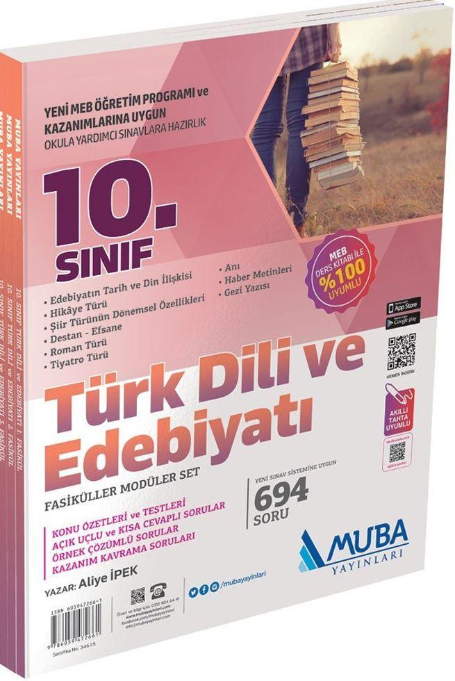 Muba Yayınları 10. Sınıf Türk Dili ve Edebiyatı  Fasiküller Modüler Set