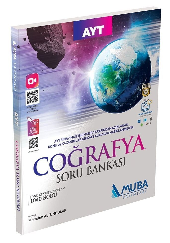 Muba Yayınları AYT Coğrafya Soru Bankası