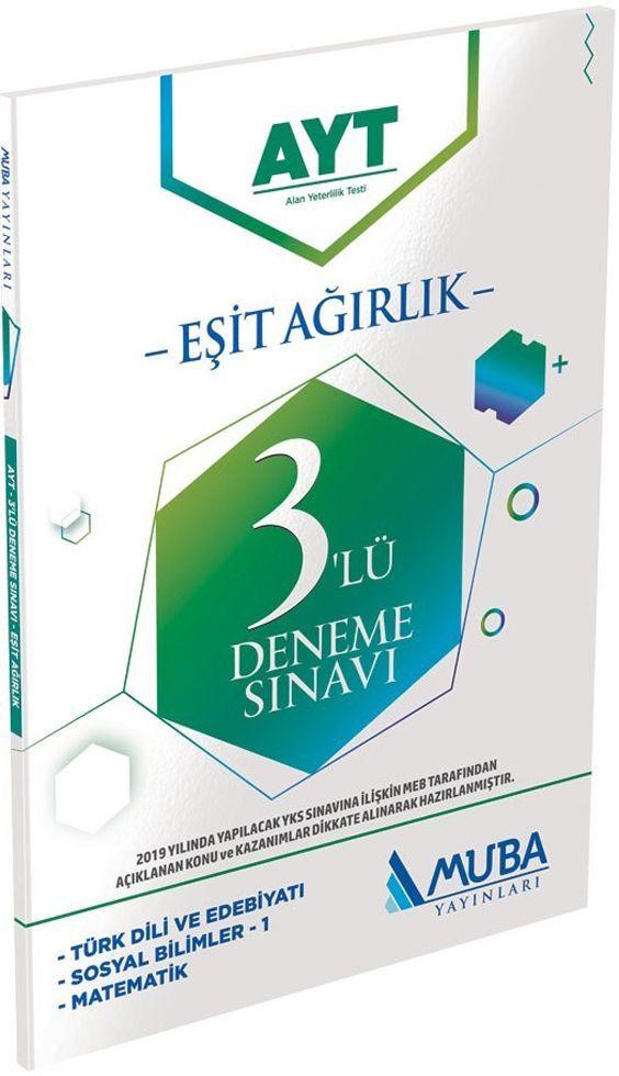 Muba Yayınları AYT Eşit Ağırlık 3 lü Deneme Sınavı