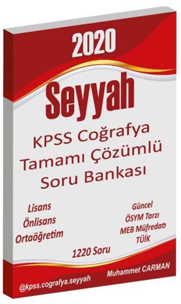 Muhammet Carman 2020 KPSS Coğrafya Seyyah Tamamı Çözümlü Soru Bankası