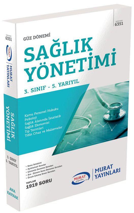 Murat AÖF 6351 - Sağlık Yönetimi 3. Sınıf 5. Yarıyıl