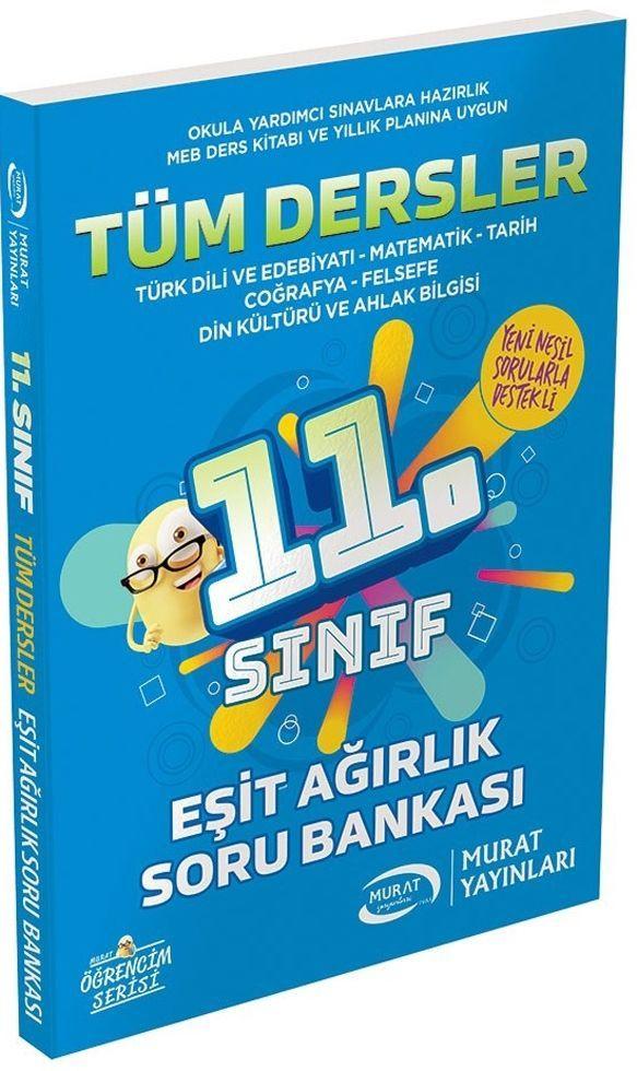 Murat Yayınları 11. Sınıf Eşit Ağırlık Tüm Dersler Soru Bankası