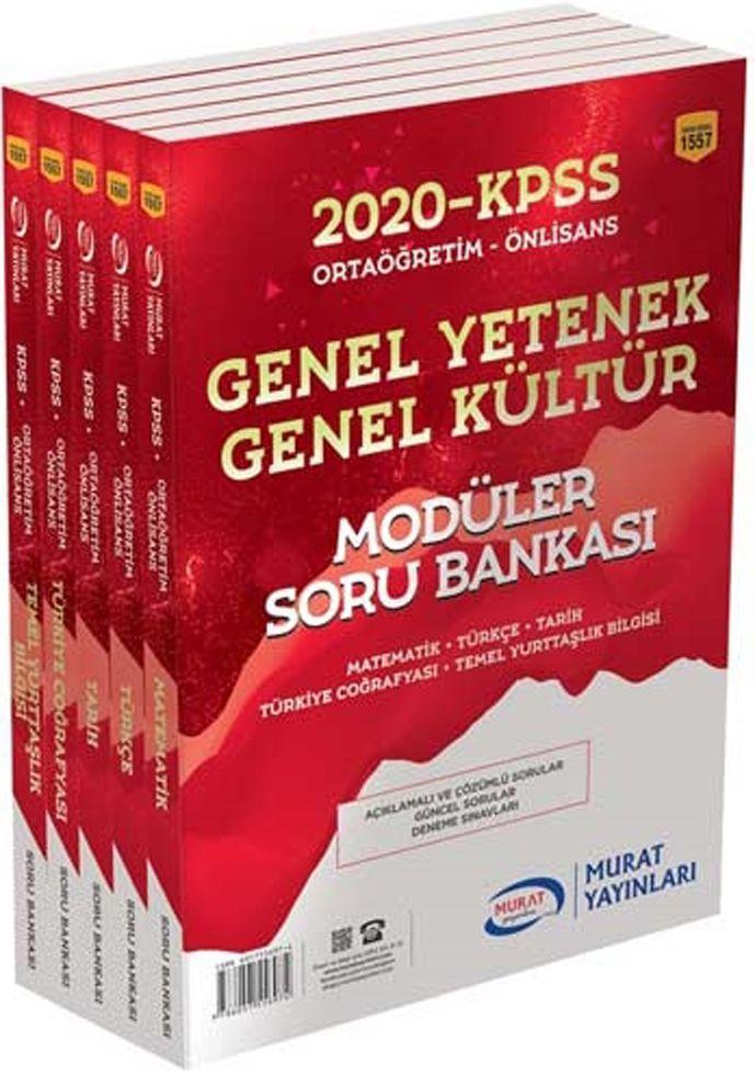 Murat Yayınları 2020 KPSS Ortaöğretim Önlisans Genel Yetenek Genel Kültür Modüler Soru Bankası