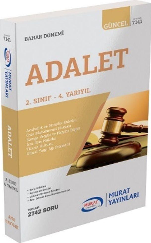 Murat Yayınları Bahar Dönemi 2. Sınıf 4. Yarıyıl Adalet