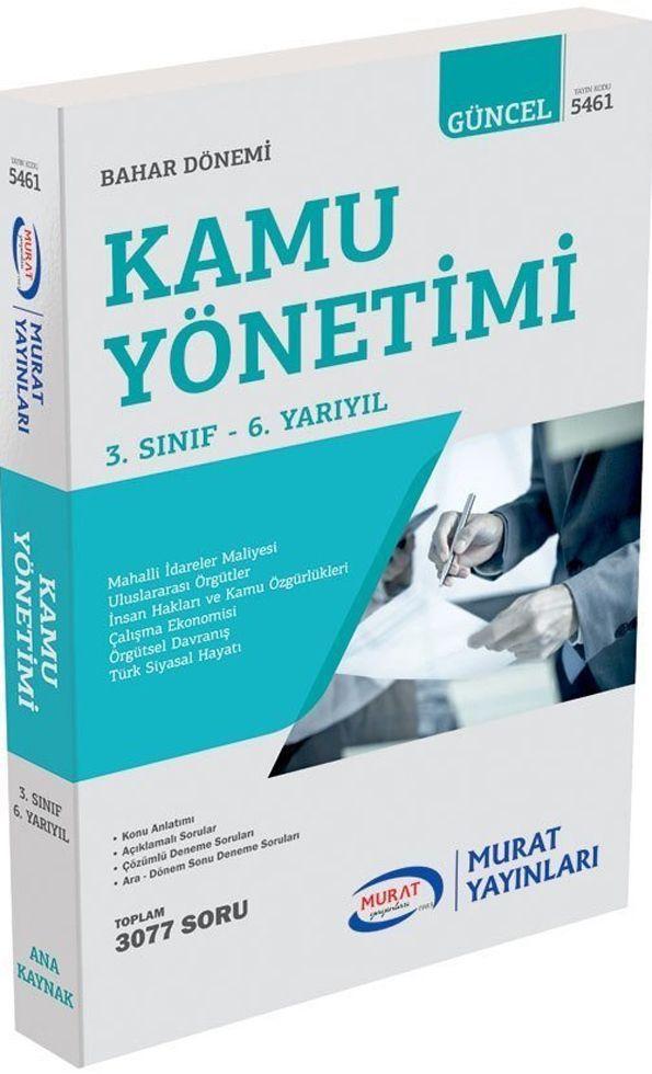 Murat Yayınları Bahar Dönemi 3. Sınıf 6. Yarıyıl Kamu Yönetimi