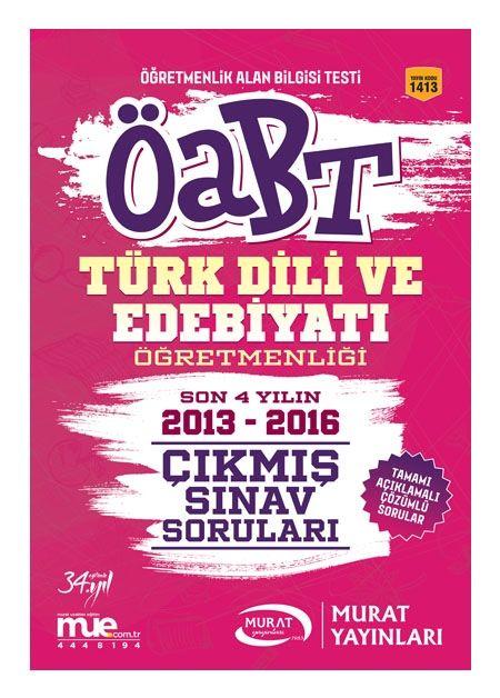 Murat Yayınları ÖABT Türk Dili Ve Edebiyatı Öğretmenliği Çıkmış Sınav Soruları 1413