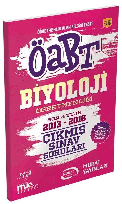 Murat Yayınları ÖABT Biyoloji Öğretmenliği Çıkmış Sınav Soruları 1415