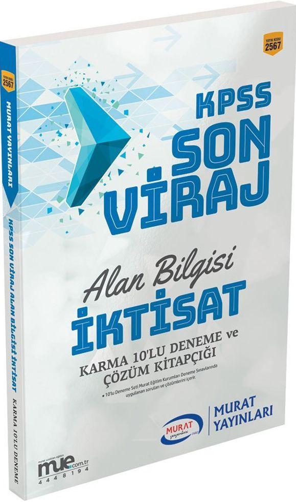 Murat Yayınları KPSS Alan Bilgisi İktisat Son Viraj Karma 10lu Deneme Seti ve Çözümleri