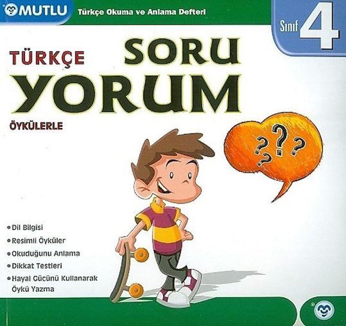 Mutlu Yayınları 4. Sınıf Türkçe Soruyorum Okuma ve Anlama Defteri