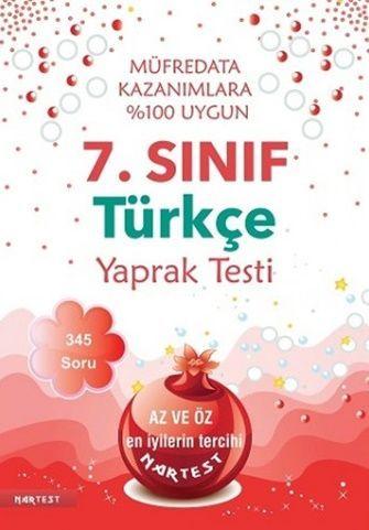 Nartest 7. Sınıf Türkçe Yaprak Test