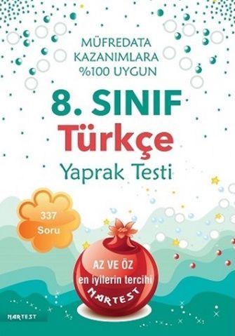 Nartest 8. Sınıf Türkçe Yaprak Test
