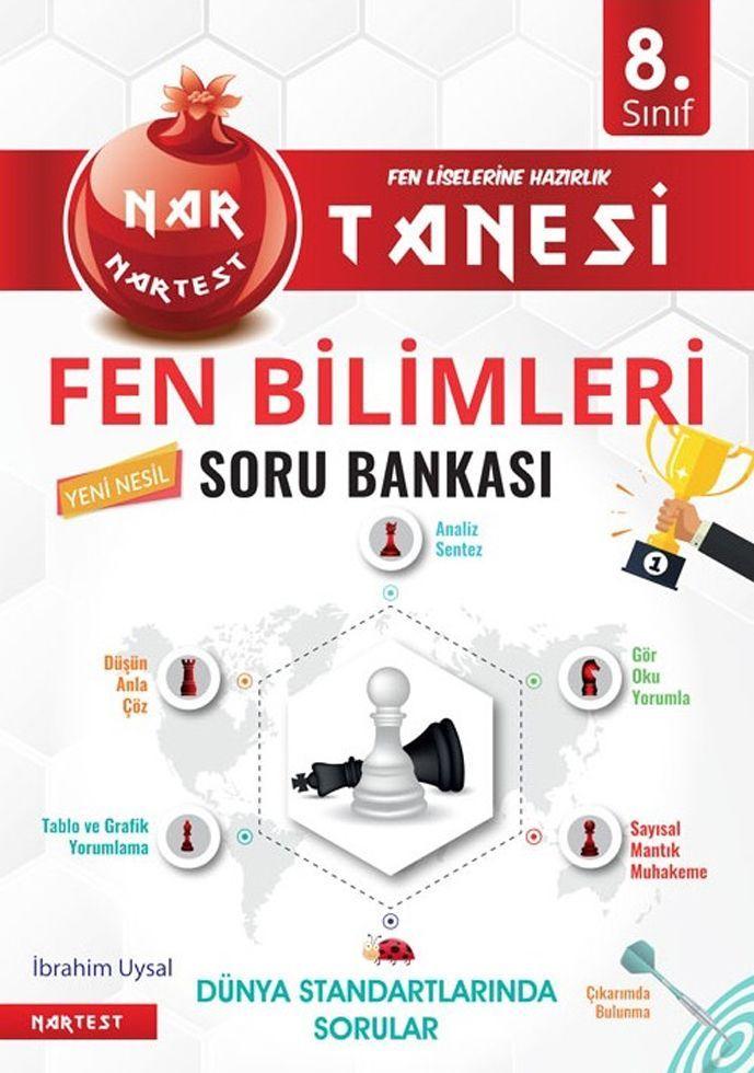 Nartest Yayınları 8. Sınıf Fen Bilimleri Nar Tanesi Soru Bankası