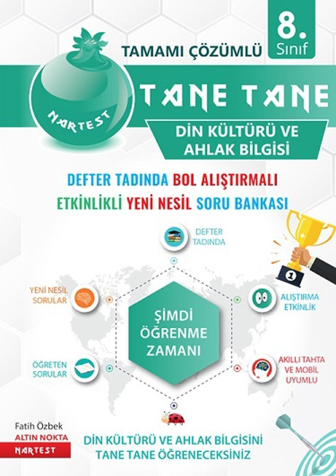 Nartest Yayınları 8. Sınıf Din Kültürü ve Ahlak Bilgisi Defter Tadında Tane Tane