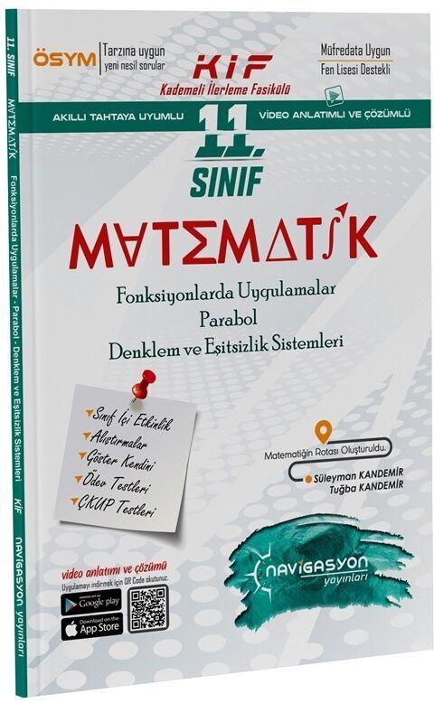 Navigasyon Yayınları11. Sınıf Matematik Fonksiyonlarda Uygulamalar Parabol Denklem ve Eşitsizlikler Fasikülü