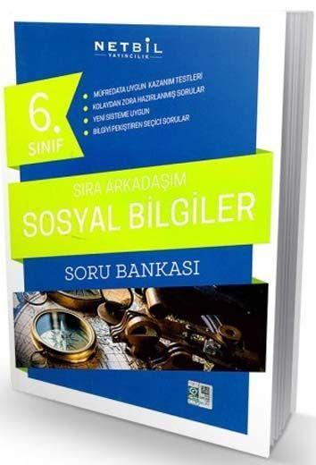 Netbil Yayıncılık 6. Sınıf Sosyal Bilgiler Sıra Arkadaşım Soru Bankası