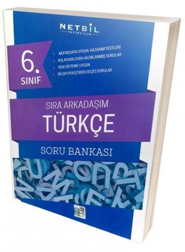 Netbil Yayıncılık 6. Sınıf Türkçe Sıra Arkadaşım Soru Bankası