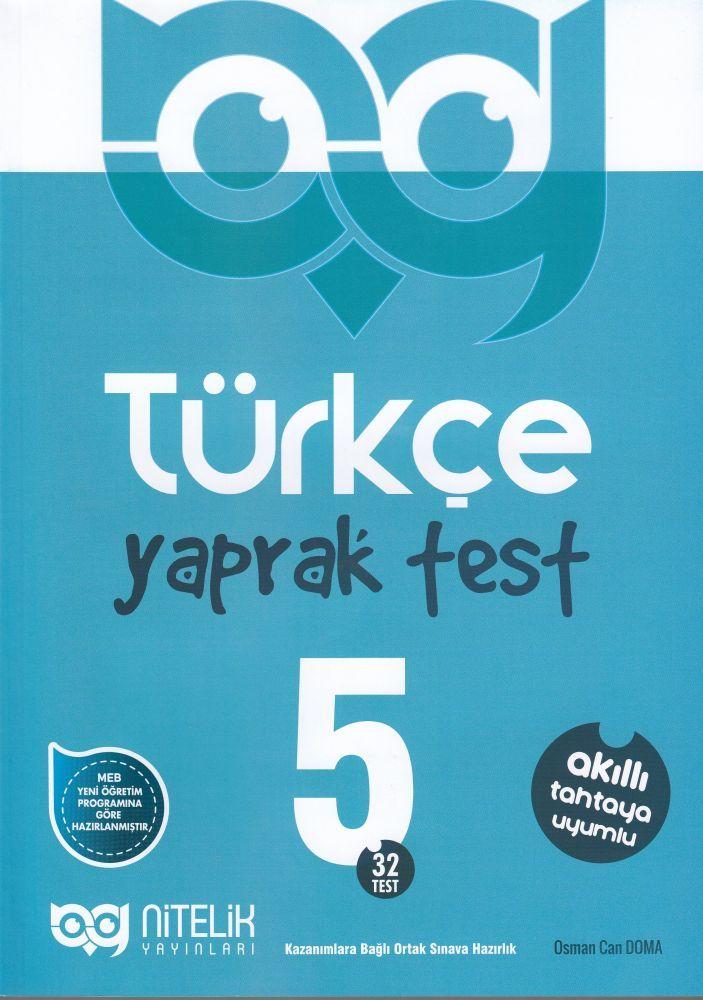 Nitelik Yayınları 5. Sınıf Türkçe Yaprak Test