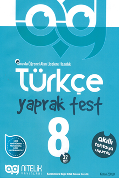 Nitelik Yayınları 8. Sınıf Türkçe Yaprak Test