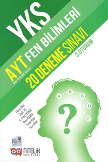 Nitelik Yayınları AYT Fen Bilimleri 20 Deneme Sınavı