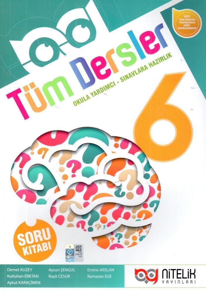 Nitelik Yayınları 6. Sınıf Tüm Dersler Soru Kitabı