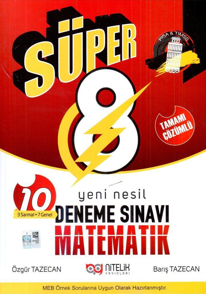 Nitelik Yayınları 8. Sınıf Matematik Süper Deneme Sınavı