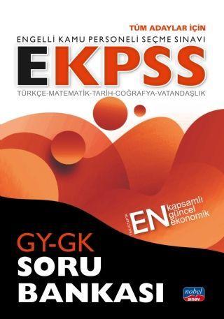 Nobel Sınav Yayınları EKPSS Tüm Adaylar İçin GY GK Soru Bankası