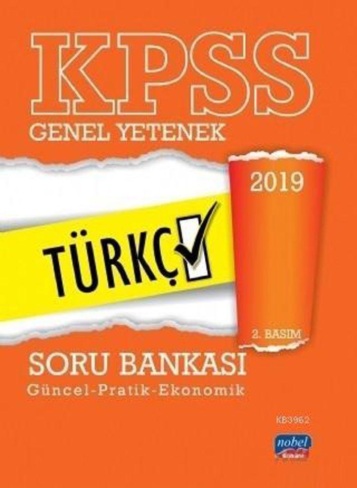 Nobel Sınav Yayınları 2019 KPSS Genel Yetenek Türkçe Soru Bankası